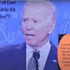Biden's Big Debate Lie: I Believe in 'Law and Order With Justice'